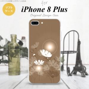 iPhone8Plus スマホケース カバー アイフォン8プラス コスモス ベージュ nk-ip8p-tp605