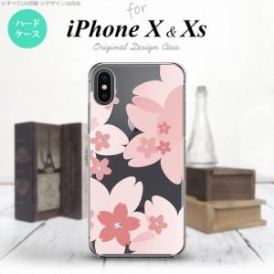 iPhoneX スマホケース カバー アイフォンX 花柄・サクラ ライトピンク nk-ipx-058