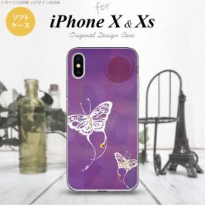 iPhoneX スマホケース カバー アイフォンX 蝶(和柄) 紫 nk-ipx-tp1553