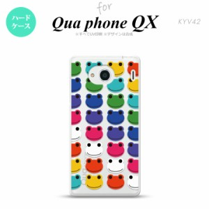 KYV42 スマホケース QUA Phone QX KYV42 カバー キュアフォン QX カエル・かえる (F) nk-kyv42-166