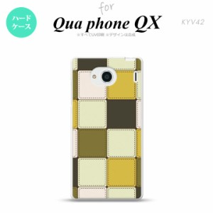 KYV42 スマホケース QUA Phone QX KYV42 カバー キュアフォン QX パッチワーク風 ミックスA nk-kyv42-1671