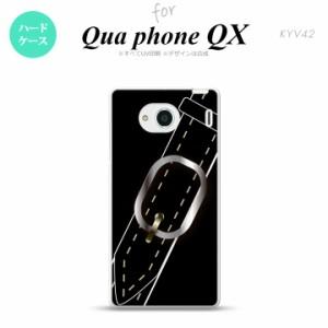 KYV42 スマホケース QUA Phone QX KYV42 カバー キュアフォン QX ベルト 黒 nk-kyv42-326
