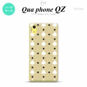 KYV44 スマホケース Qua phone QZ KYV44 カバー キュアフォン QZ トランプ(スペード) ベージュ×白 nk-kyv44-541