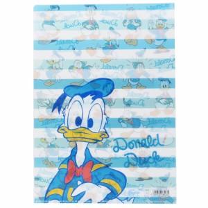 ドナルドダック ファイル A4シングルクリアファイル 2159562 ディズニー キャラクターグッズ通販 メール便可