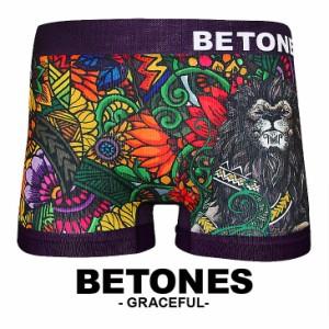 BETONES/ビトーンズ ボクサーパンツ メンズ GRACEFUL アニマル ボタニカル フラワー ライオン 男性下着 誕生日プレゼント 彼氏 おしゃれ