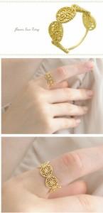 K18リング flower lace  K18 18k 18金 リング 指輪