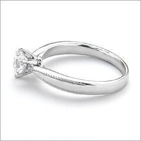 婚約指輪 エンゲージリング!  卸直営!ダイヤモンド 0.234ct  Fカラー VVS2 EXCELLENT H&C 3EX   プラチナ(Pt900)鑑定書付き ラウンド
