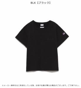 フレイ アイディー FRAY I.D 【FRAY I.D×Champion】ポイント刺繍Tシャツ tシャツ 半袖 ロゴ Champion チャンピオン コラボ