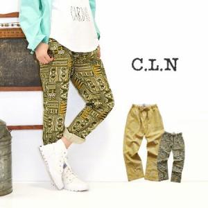 C.L.N|CLN コットンリネン エスニックプリント リラックスパンツ【メール便可20】