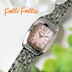 レビューで次回2000円オフ 直送 フォリフォリ FOLLI FOLLIE S922メタルベルト クオーツ レディース 腕時計 WF5T080BDP ピンク