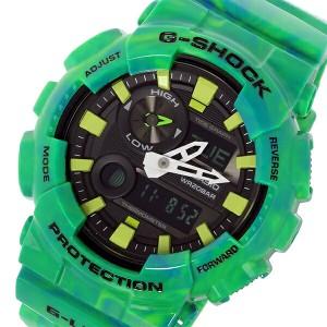 レビューで次回2000円オフ 直送 カシオ CASIO Gショック G-SHOCK Gライド G-LIDE メンズ 腕時計 GAX-100MB-3A ブラック グリーンマーブル