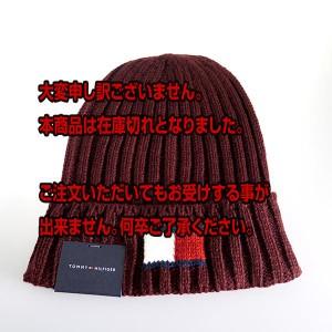 返品可 レビューで次回2000円オフ 直送 トミーヒルフィガー TOMMY HILFIGER Knit Logo Cuff Hat メンズ ニット帽 ニットキャップ H8H7321
