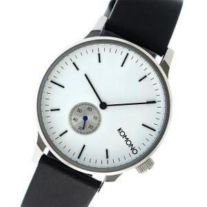 レビューで次回2000円オフ 直送 コモノ KOMONO Winston Subs クオーツ メンズ 腕時計 KOM-W3002 ホワイト