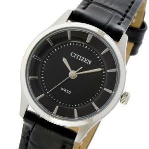 レビューで次回2000円オフ 直送 シチズン CITIZEN クオーツ レディース 腕時計 ER0207-09E ブラック