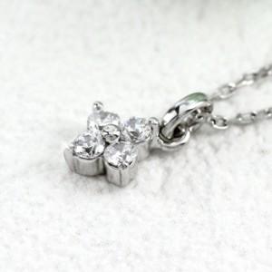 ネックレス ペンダント ダイヤモンド ゴールド 18k フラワー 花 シンプル プチ 18金 K18【送料無料】