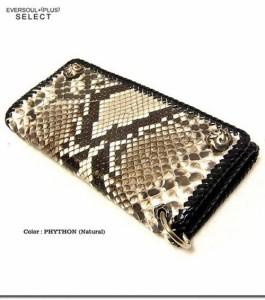 本物の質感と圧倒的な高級感 豊富な収納で実用性抜群のパイソン 蛇皮 レザーロングウォレット 3681295  mou43