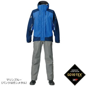 ダイワ ゴアテックス プロダクト コンビアップレインスーツ マリンブルー DR-1807 M〜XL (レインウェア)