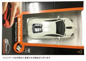 AUTOMOUSE オートマウス AVENTADOR ホワイト ランボルギーニアヴェンタドール型ワイヤレスマウス 2.4GHz