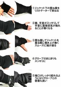 【ゆうパケット対応2個迄】KEMEKO ケメコ リストゲーター2 フリーサイズ 手首用防寒インナー