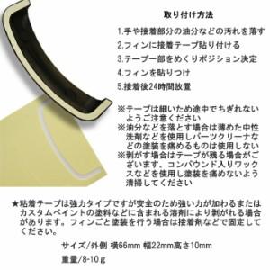 【ゆうパケット対応1個迄】KEMEKO ケメコ シンプソン用レインスポイラーフィン4枚セット 社外オプション