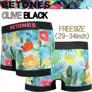 【ゆうパケット対応2枚迄】BETONES ビトーンズ CLIVE CVE001-02BLACK フリーサイズ ボクサーパンツ アンダーウエア