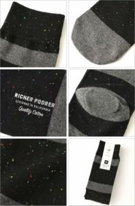 Richer Poorer (リッチャープアラー) ソックス メンズ ブランド 靴下 メンズ おしゃれ カジュアル 靴下 ソックス