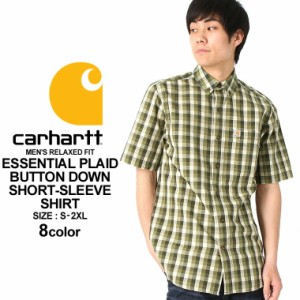 Carhartt カーハート シャツ メンズ 半袖 チェック チェックシャツ ボタンダウンシャツ チェック柄 シャツ メンズ 大きいサイズ