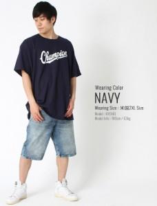 Champion チャンピオン Tシャツ メンズ 半袖 チャンピオン tシャツ ビッグロゴ アメカジ Tシャツ メンズ ブランド 大きいサイズ