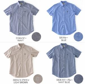 シャツ メンズ 半袖 ボタンダウンシャツ 半袖 ボタンダウン 半袖 シャンブレー 半袖 シャンブレーシャツ メンズ 半袖シャツ メンズ