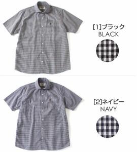 シャツ メンズ 半袖 半袖シャツ メンズ ワイドカラー 半袖 チェック柄 ギンガムチェック シャツ 半袖 メンズ 半袖シャツ メンズ