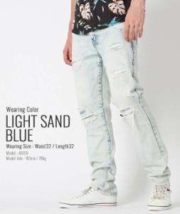 サウスポール (SOUTH POLE) ジーンズ メンズ ストレート ダメージジーンズ メンズ ダメージ デニム ストリート ブランド