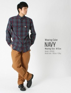 カーハート (carhartt) シャツ 長袖 メンズ チェックシャツ 長袖 ボタンダウンシャツ 大きいサイズ メンズ
