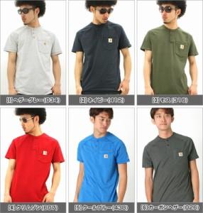 Carhartt カーハート Tシャツ メンズ ブランド 半袖tシャツ 大きいサイズ アメカジ tシャツ ヘンリーネック ヘンリー ポケット付き
