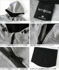 【送料299円】 wt02 フリース ジャケット メンズ ハーフジップ フリース パーカー メンズ 裏起毛 大きいサイズ メンズ プルオーバー