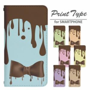 スマホケース 手帳型 iPhone シリーズ 携帯ケース チョコリボン iPhone8 7 X 8Plus SE bn300