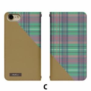 スマホケース 手帳型 Galaxy S8 SCV36 携帯ケース SCV36 チェックストール au Galaxy カバー bn369