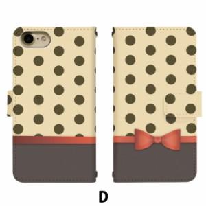 スマホケース 手帳型 アイフォン7 iPhone7 携帯ケース iPhone7 ドットリボンAW apple iPhone カバー di281
