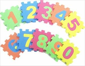 ソフトパズルブロック すうじ 〔まとめ買い12個セット〕 No.180