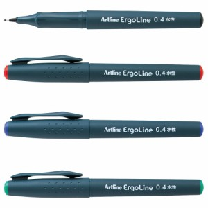【メール便発送】シヤチハタ エルゴライン サインペン 0.4 青 K-3400アイイロ