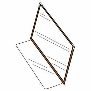 セキセイ メニューファイル補充ファイル ME-1000用 2ページ A4 ブラウン ME-106-40