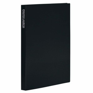 (まとめ買い)セキセイ ポケット フォトアルバム 高透明 KGサイズ80枚収容 ブラック KP-80P-60 〔5冊セット〕