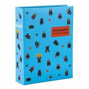 (まとめ)セキセイ ポケットアルバム くまモン Lサイズ200枚収容 ブルー KM-5200-10 〔まとめ買い×3セット〕