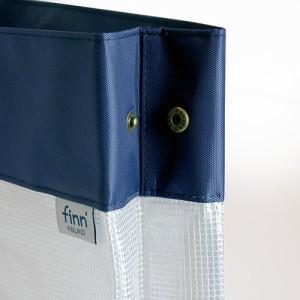 (まとめ)セキセイ フィンダッシュ デスクデスクバッグ A4 ヨコ クラウド FINN-7701-67 〔まとめ買い×3セット〕