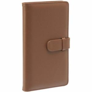 (まとめ買い)セキセイ ラポルタ カードホルダー カードサイズ120枚収容 ブラウン LA-6120-40 〔3冊セット〕