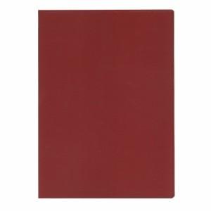 (まとめ買い)コレクト ノートカバー本革調(合成皮革製) A4判 赤 CP-44X-RE 〔5冊セット〕