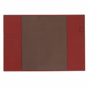 (まとめ)コレクト ノートカバー本革調(合成皮革製) A4判 赤 CP-44X-RE 〔まとめ買い×5セット〕