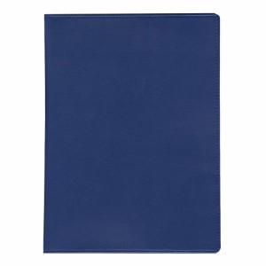 (まとめ買い)コレクト ノートカバー本革調(合成皮革製) B5判 紺 CP-50X-BL 〔5冊セット〕