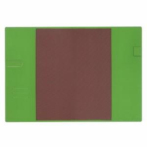 (まとめ)コレクト ノートカバー本革調(合成皮革製) A4判 ライトグリーン CP-44X-LG 〔まとめ買い×5セット〕