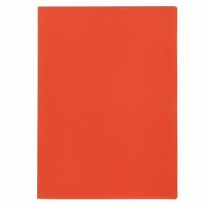 (まとめ買い)コレクト ノートカバー本革調(合成皮革製) A4判 オレンジ CP-44X-OR 〔5冊セット〕