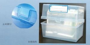 コレクト 情報ボックス B6 フタ付 クリア PP製 CB-6033-CL